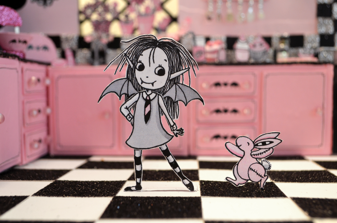Isadora Moon in her 3D illustration kitchen by Harriet Muncaster