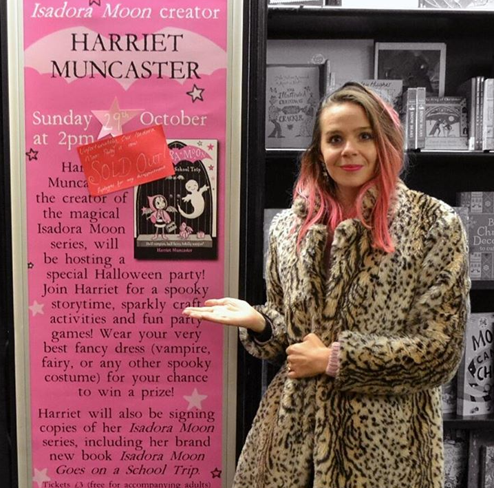 Harriet Muncaster at Manchester Waterstones