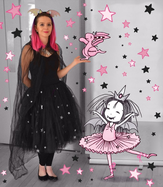 Harriet Muncaster with Isadora Moon