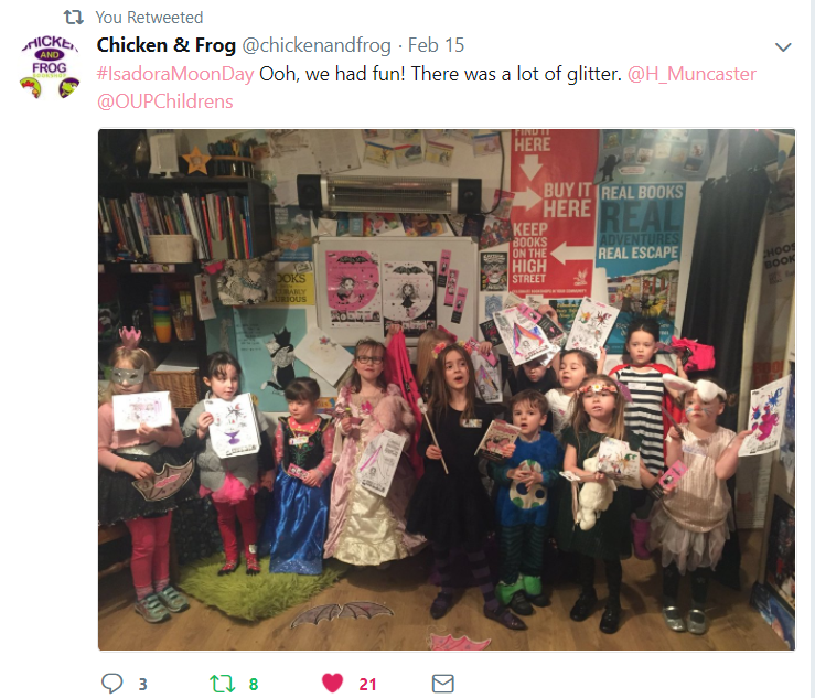 Isadora Moon Day at Chicken & Frog Bookshop