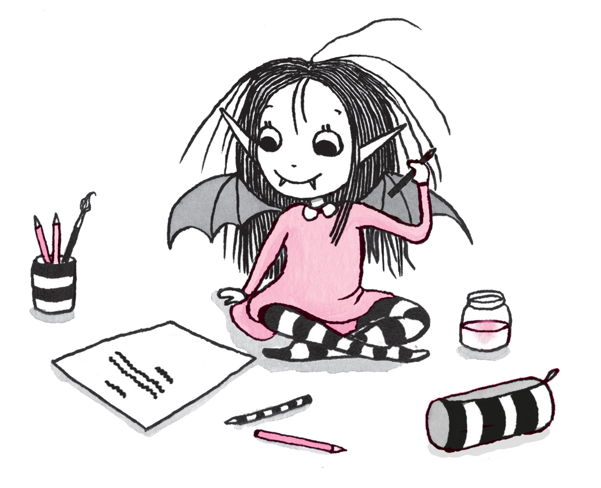 Isadora Moon writing